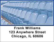 Click on Blue & White Football Team Address Labels For More Details