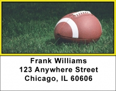 Click on Yellow & Black Football Team Address Labels For More Details