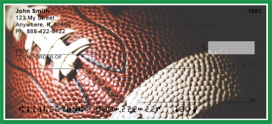 Click on Green & White Football Team  Personal Checks For More Details