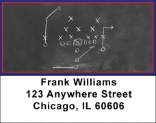 Click on Blue & Red Football Team Address Labels For More Details