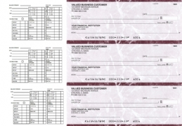 Learn more about Burgundy Marble Payroll Business Checks