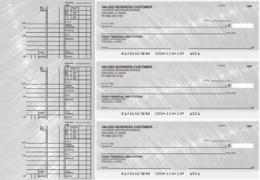 Learn more about Brushed Metal Multi Purpose Designer Business Checks