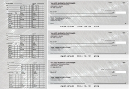 Learn more about Brushed Metal Payroll Designer Business Checks