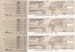 Click on World Map Accounts Payable Designer Business Checks For More Details