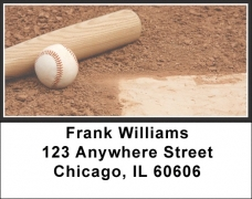 Click on Black & White Baseball Team Address Labels For More Details