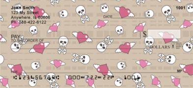 Click on Skulls & Hearts  Personal Checks For More Details