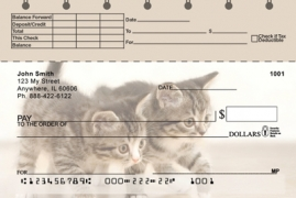 Click on Cute Kittens Top Stub  Personal Checks For More Details