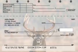 Click on Big Horned Buck Deer Top Stub  Personal Checks For More Details