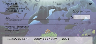 Click on Whales and Lighthouse  By David Dunleavy Personal Checks For More Details