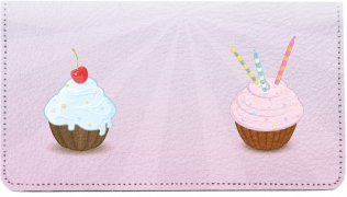 Click on More Cupcakes Leather Checkbook Cover For More Details