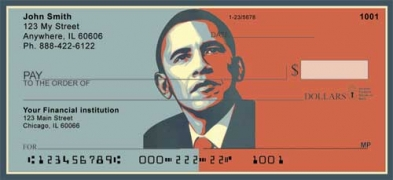 Click on Obama Red and Blue  Personal Checks For More Details