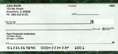 Click on Green Marble Personal Checks For More Details