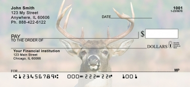 Click on Big Horned Buck Deer Top Tear  Personal Checks For More Details