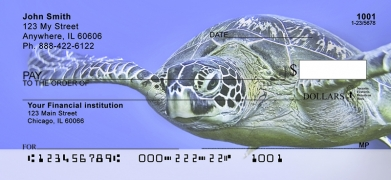 Click on Sea Turtles Under Water  Personal Checks For More Details