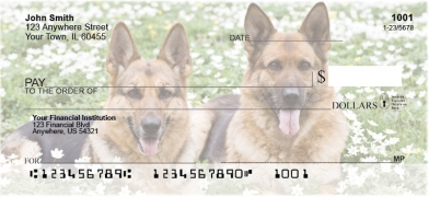 Click on German Shepherd  Personal Checks For More Details