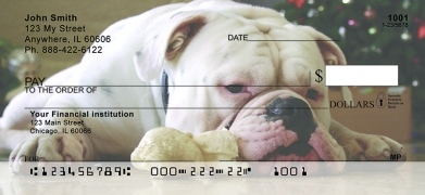 Click on Cute English Bulldog  Personal Checks For More Details