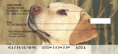 Click on Majestic Yellow Lab  Personal Checks For More Details