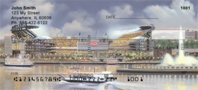Click on Pittsburgh Stadiums  Personal Checks thumbnail to view the product detail page