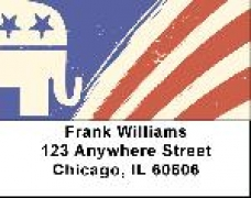 Click on Republican Elephant Flag Address Labels For More Details
