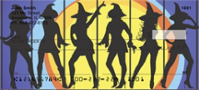 Click on Witch - Witches Silhouettes  Personal Checks For More Details