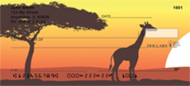 Click on African Savannah - Africa Personal Checks For More Details