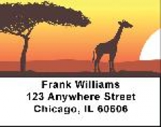 Click on African Savannah Address Labels - Africa Labels For More Details