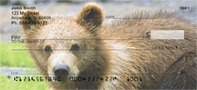Click on Grizzly Bear Cub - Grizzly Bear Cubs  Personal Checks For More Details