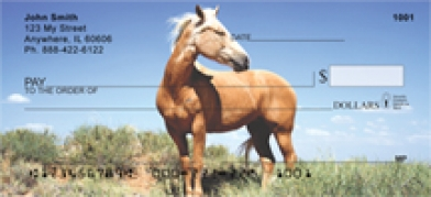 Click on Mustang - Mustang Horse  Personal Checks For More Details