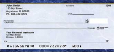 Click on Blue Marble Personal Checks For More Details