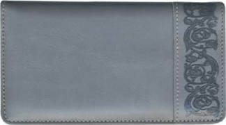 Click on Premium Gray Leather Side Tear Style Checkbook Cover For More Details