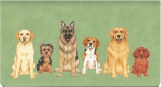 Click on Dog Days Leather Checkbook Cover For More Details