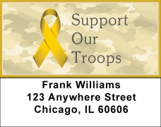 Click on Support Our Troops Ribbon Address Labels For More Details