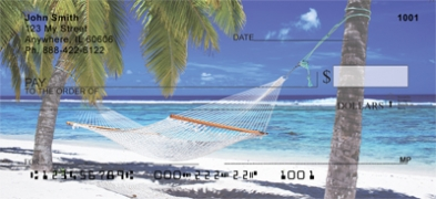 Click on Escape to Paradise On The Beach Personal Checks For More Details