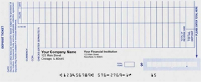 Click on Loose Business Deposit Slips Style 1 For More Details