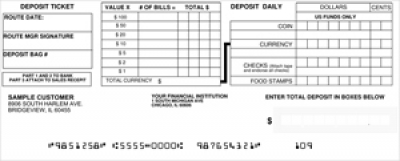 Click on Loose Business Deposit Slips Style 6 For More Details