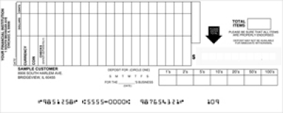 Click on Loose Business Deposit Slips Style 8 For More Details