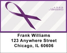 Click on A.D.D. Awareness Ribbon Address Labels For More Details