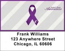 Click on Animal Abuse Awareness Ribbon Address Labels For More Details