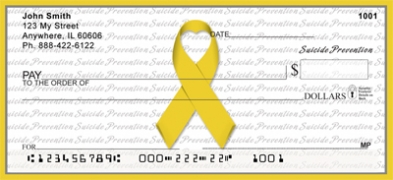 Click on Suicide Prevention Ribbon  Personal Checks For More Details