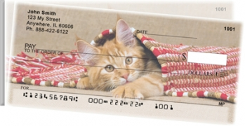 Click on Cute Kittens Side Tear Personal Checks For More Details
