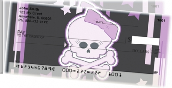Click on Girly Skulls Side Tear Personal Checks For More Details