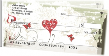 Click on Grunge Hearts Side Tear Personal Checks For More Details