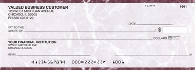 Click on Burgundy Marble Business Pocket Checks  For More Details