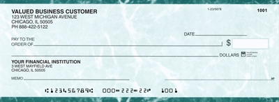 Click on Teal Marble Business Pocket Checks  For More Details