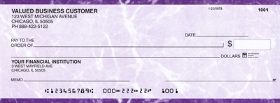 Click on Purple Marble Business Pocket Checks For More Details