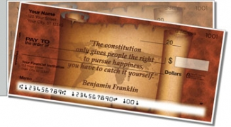 Click on Patriotic Quote Side Tear Personal Checks For More Details