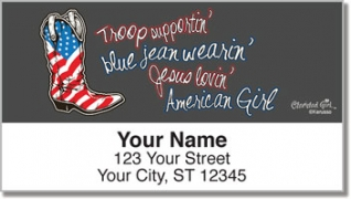 Click on All American Girl Address Labels For More Details