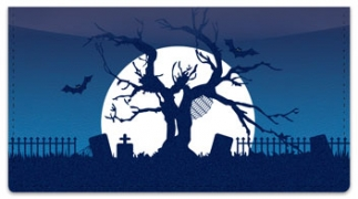 Click on Halloween Graveyard Checkbook Cover For More Details