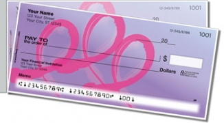 Click on Pink Ribbon Side Tear Personal Checks For More Details