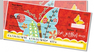 Be Joyful Side Tear Personal Checks